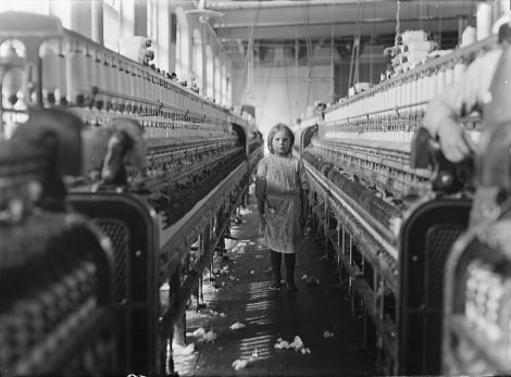 Child laborer in a Textile Factory