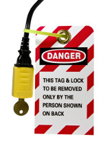 lock out safety tag