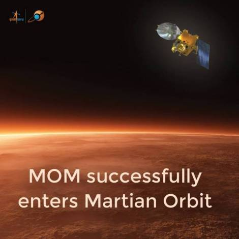 MOM enters Mars Orbit