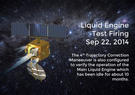 Liquid Engine Test Firing